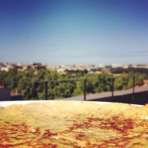 Pancake met uitzicht