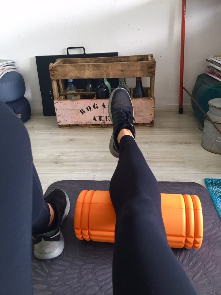 foamroll, workout, warming up