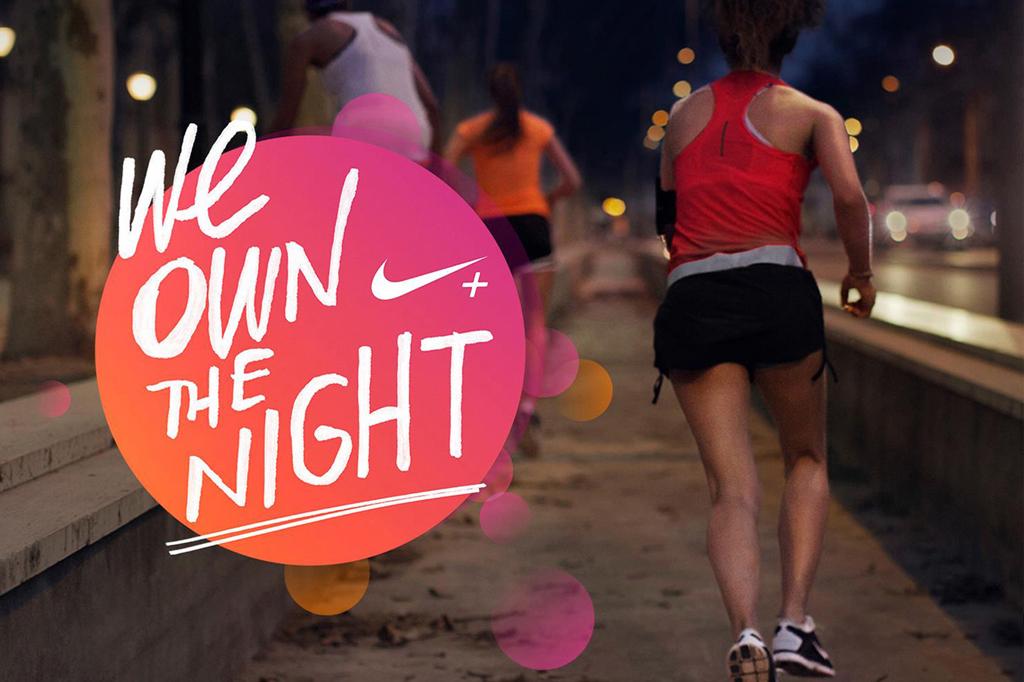 nike ladies run we own the night