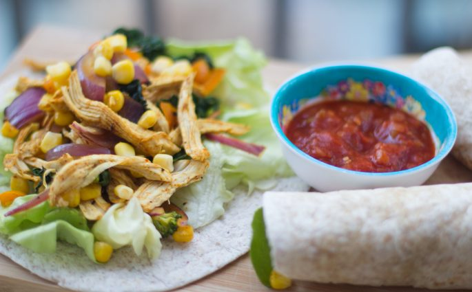 Pulled Chicken Fajitas