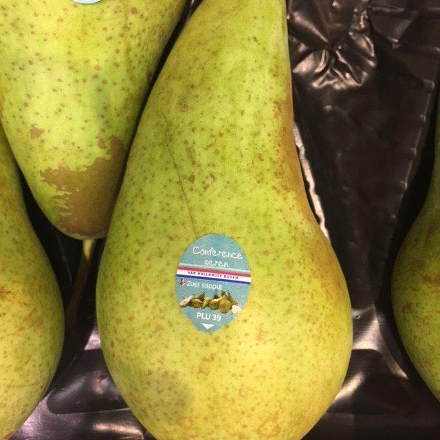 stickers op fruit
