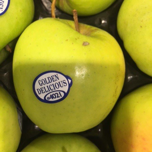 stickertjes op fruit
