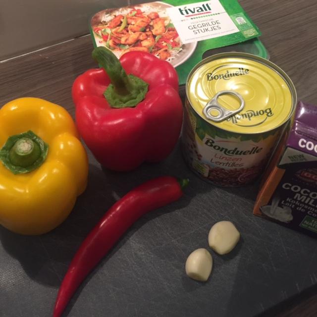 vegetarische linzencurry