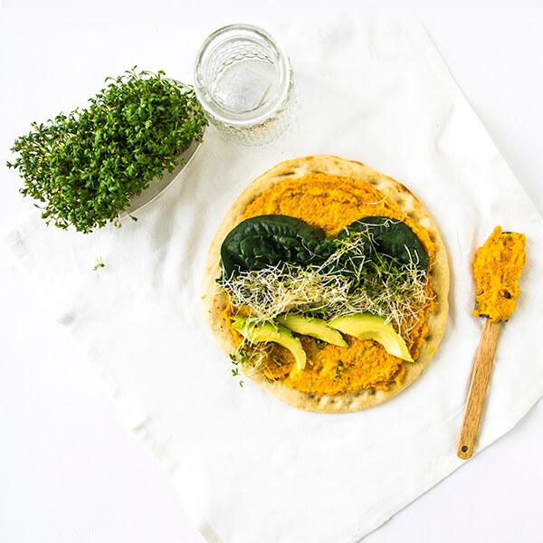 vegan bloemkoolpizza
