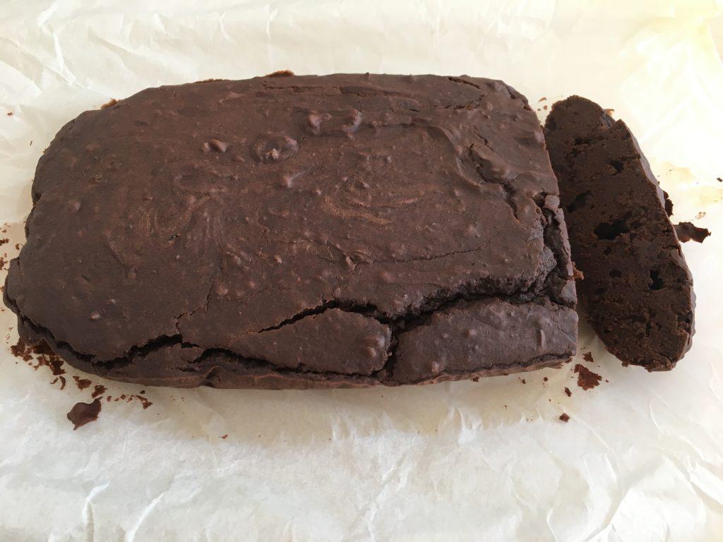 gezonde brownie met zwarte bonen