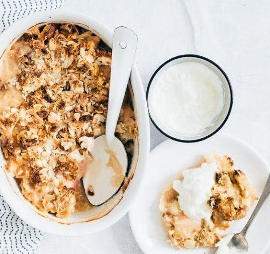 Rabarber recepten crumble