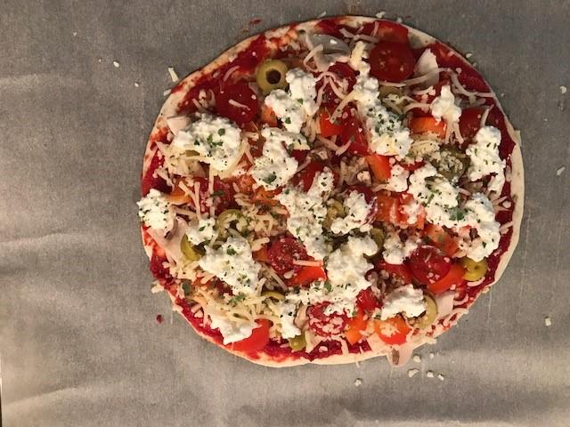 gezonde pizza beleg