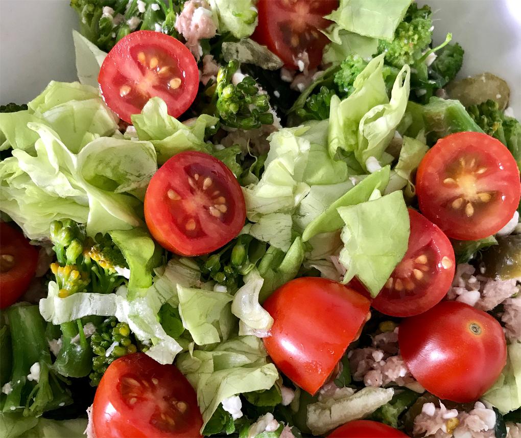 sport en eetdagboek lianne tonijnsalade