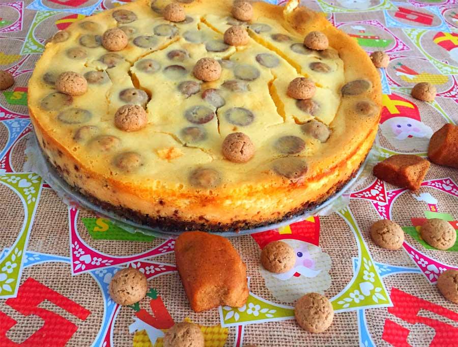 Sinterklaas recept: Witte chocolade, karamel-zeezout cheesecake met kruidnoten