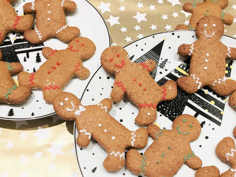 gezonde snacks - Healthy Christmas baking: Gingerbread cookies! - tip