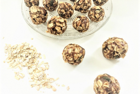Granola bonbons met pindakaas