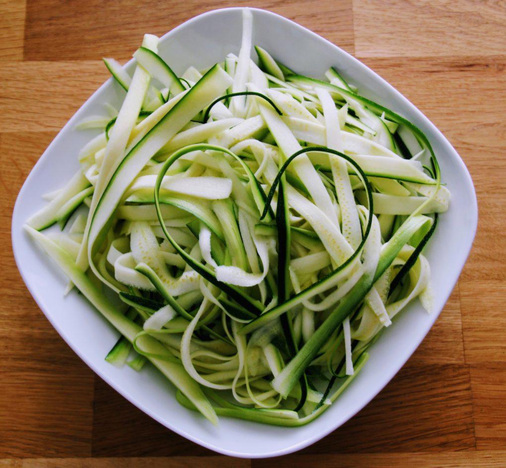 courgette spaghetti recept