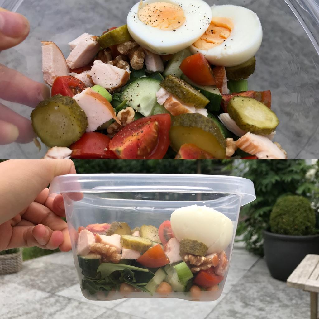 eetdagboek Kikkererwten salade