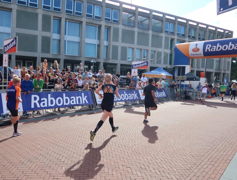 eerste hardloopwedstrijd