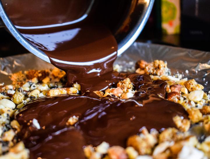 zelfgemaakte vegan chocoladereep