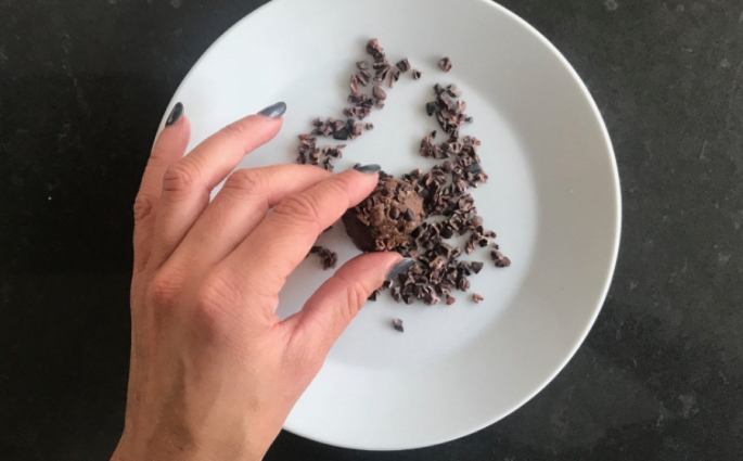 bliss balls met chocolade