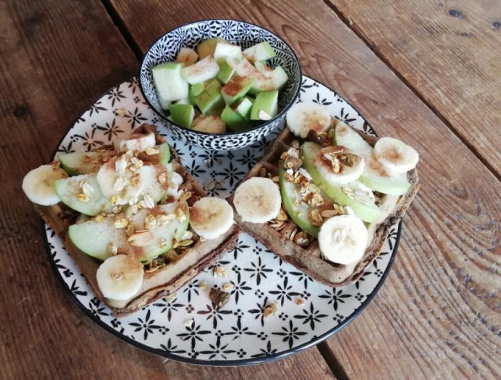 gezonde wafels met fruit