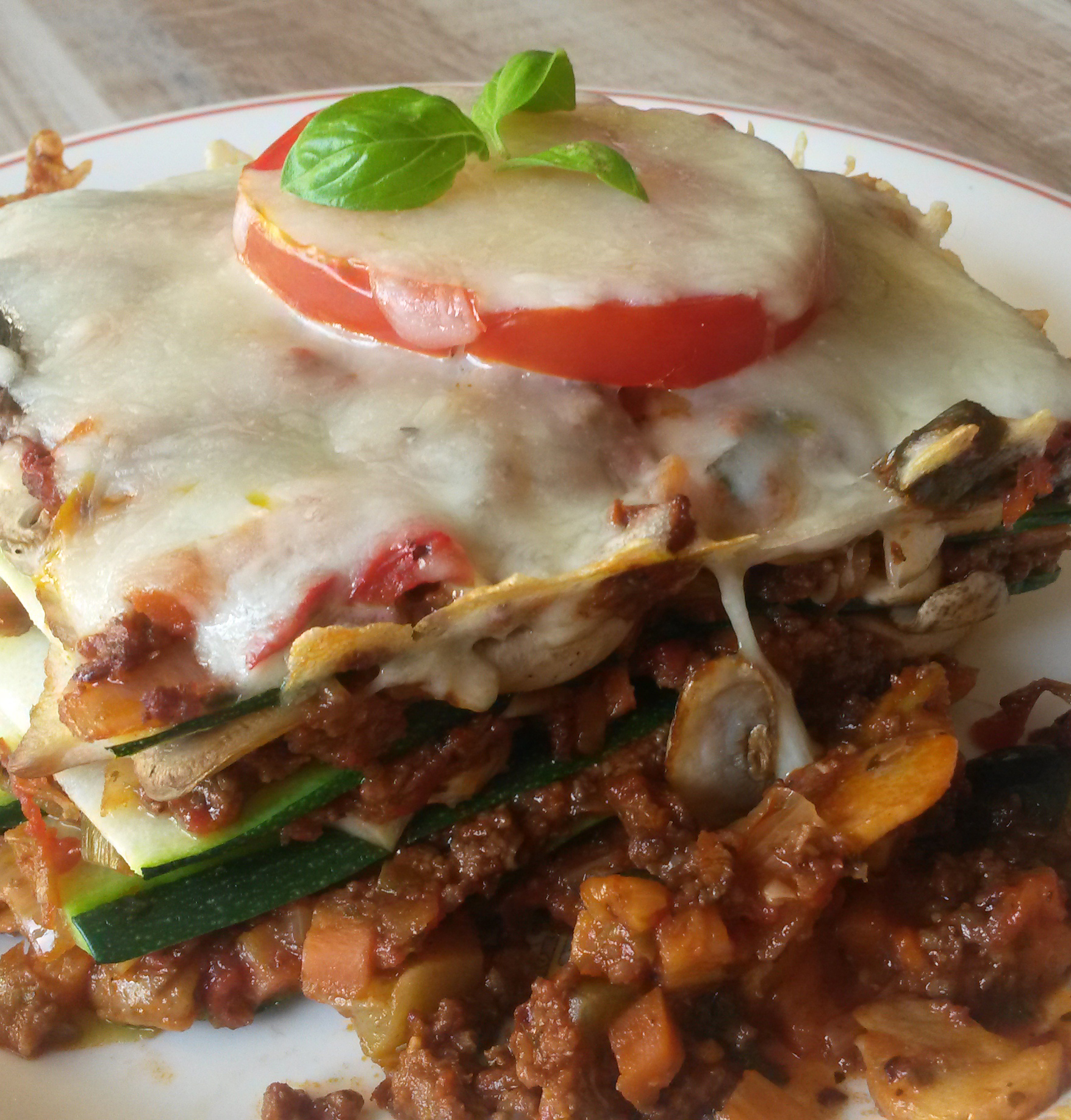 courgette lasagne recept